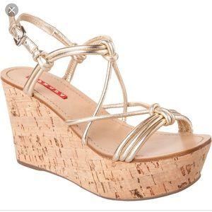 EUC Prada wedge sandals